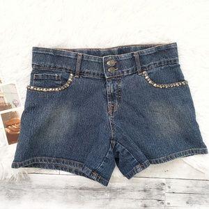 Cache blue Jean studded trim pocket shorts 6